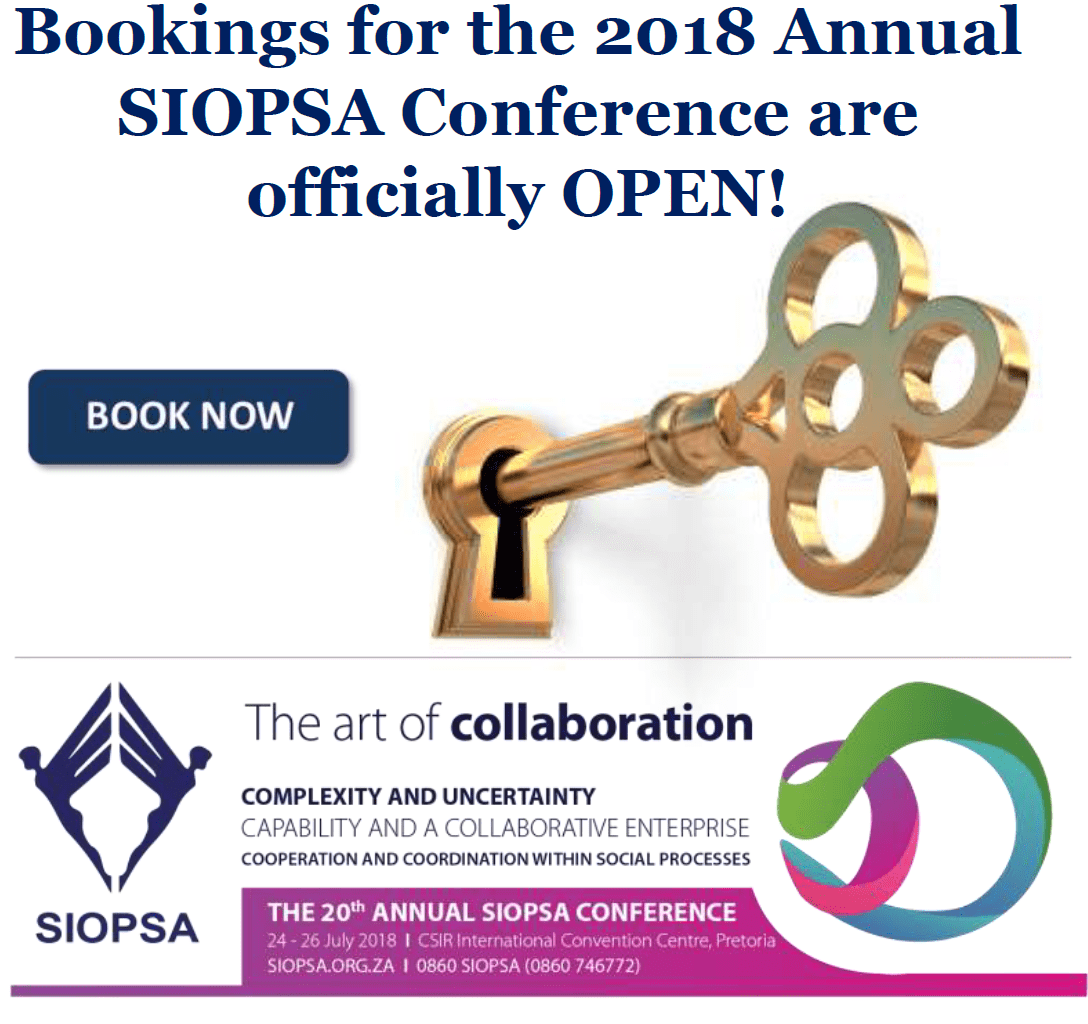 Bookings for the 2018 Annual SIOPSA Conference officially open!