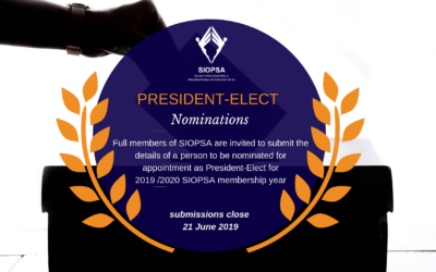 A call for nominations for 2019/2020 President-Elect