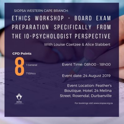 SIOPSA | Society for Industrial and Organisational Psychology of